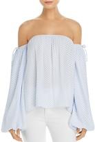 MLM Label Dallas Stripe Off-The-Shoulder Top