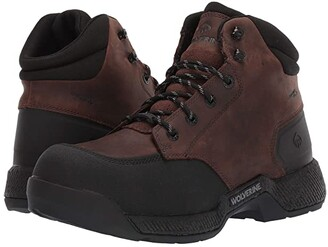 Wolverine Carom CarbonMAX 6 Work Boot (Fossil) Men's Work Lace-up Boots