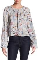 Melrose and Market Bell Sleeve Button Back Floral Print Shirt (Regular & Petite)