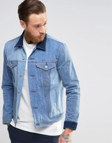 Levis Levi's Slim Trucker Denim Jacket May Celebration Contrast Shades