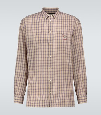 Gucci Cotton-blend checked shirt