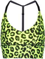 Thumbnail for your product : Adam Selman Sport Leopard-print triangle sports bra