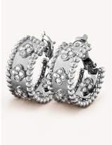 Van Cleef & Arpels Perlée clovers gold and diamond earrings