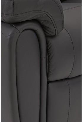 Violino Leighton Leather/Faux Leather Power Recliner Corner Group Sofa