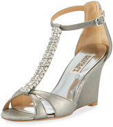 Badgley Mischka Romance II Embellished Wedge Sandal
