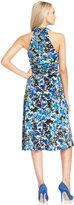 Evan Picone Floral-Print Halter Dress