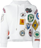 DSQUARED2 patch pullover hoodie