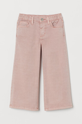 H&M Wide twill pull-on trousers