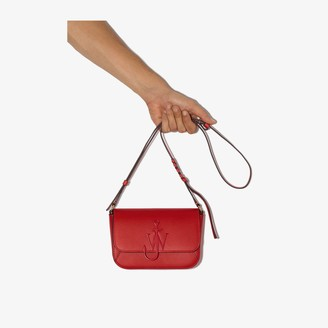 J.W.Anderson Red Nano Anchor Leather Cross Body Bag