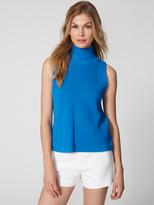 525 America Cutaway Sleeveless Mock Sweater