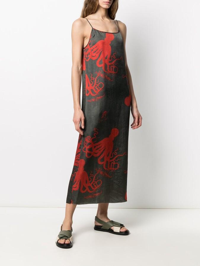 Thumbnail for your product : UMA WANG Octopus Print Midi Dress