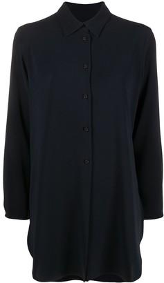 Alberto Biani Longline Classic Collar Shirt
