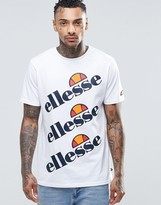 Ellesse T-Shirt With Triple Logo