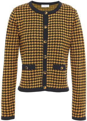 Claudie Pierlot Houndstooth Jacquard-knit Cardigan