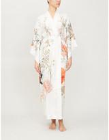 Selfridges Meng Floral-print silk kimono