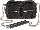Brenda Washed Shoulder Bag - Black
