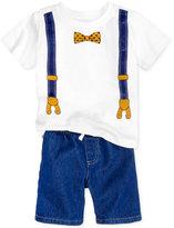 Nannette 2-Pc. Tuxedo-Print T-Shirt & Shorts Set, Toddler & Little Boys (2T-7)