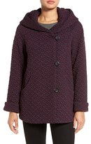 Gallery Women's Hooded Jacquard Fleece Topper