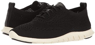 Cole Haan Zerogrand Stitchlite Oxford (Black Knit/Leather/Ivory) Women's Lace up casual Shoes