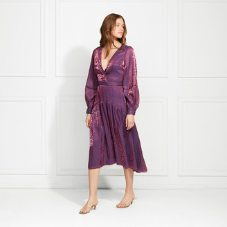 Rachel Zoe Leon Leopard Lame Midi Dress