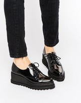 Sixty Seven SixtySeven Lace Up Wedge Flatform Brogue Shoes