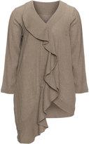 Isolde Roth Plus Size Wrap linen jacket