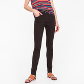 Paul Smith Women's Skinny-Fit Black Brushed Denim Jeans