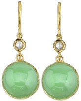Irene Neuwirth Cabochon Chrysoprase And Diamond Earrings