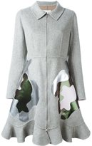 Mary Katrantzou 'Jade' coat - women - Polyurethane/Cashmere/Wool - 10