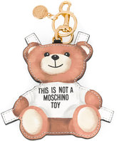 Moschino toy bear paper cut out keyring - women - Calf Leather - One Size