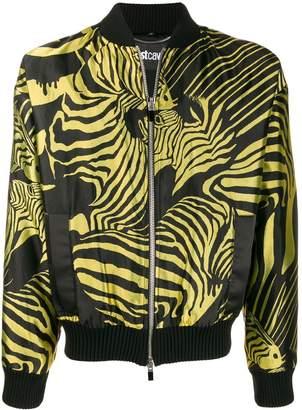 Just Cavalli zebra pattern bomber jacket