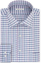 Van Heusen Men's Classic Fit Wrinkle-Free Blue Check Dress Shirt