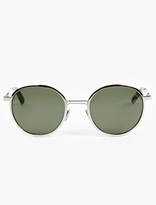 Cutler and Gross Olive '1179' Oval Sunglasses