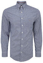 Gant Gingham Check Cotton Long Sleeve Shirt, Persian Blue