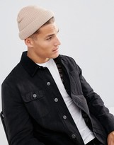 Asos Mini Fisherman With Rolled Edge In Pink