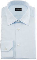 Ermenegildo Zegna Men's Light Blue End-On-End Dress Shirt
