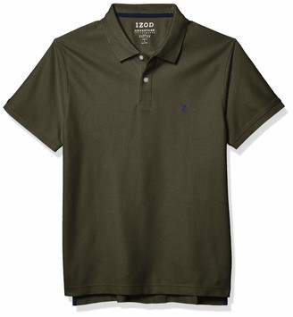 Izod mens Slim Fit Advantage Performance Short Sleeve Solid Polo Shirt