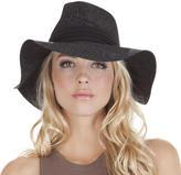 Jessica Simpson Snake Skin Black Floppy Hat