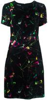 Emporio Armani jacquard velvet effect dress