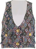 Relax Baby Be Cool Multicolor Cotton Cropped Vest With Pockets
