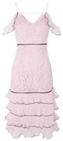 Topshop Soft Ruffle Midi Dress