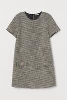 H&M Textured-weave Dress - Black