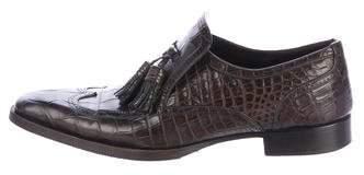 Gucci Crocodile Tassel Wingtips