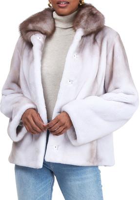 Gorski Mink Jacket w/ Stone Marten Fur Collar