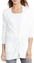Lauren Ralph Lauren Stretch Cotton-Blend Cardigan