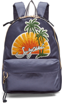 See by Chloe Sunset-embroidered satin backpack
