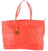 Tory Burch Leather Appliqué Tote