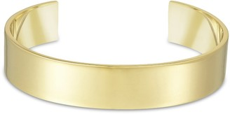 Arque Men's Extra Large Polished 18 ct Yellow Gold Medium/Large Cuff of 15.8 cm