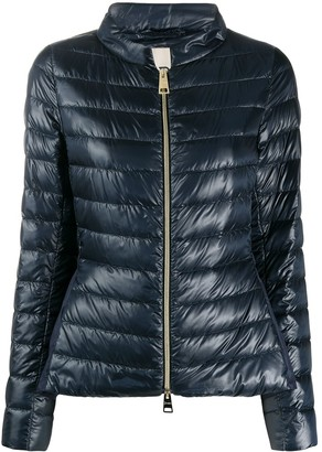 Herno Quilted Ruffle-Back Down Jacket
