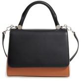 Max Mara Small Jbag Colorblock Leather Satchel - Black